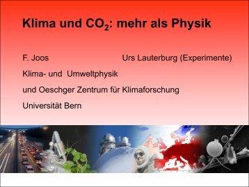 Klima und CO2: mehr als Physik (pdf, 4.4 MB) - Universität Bern