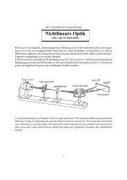 Versuchsanleitung Nichtlineare Optik (pdf, 2.6 MB)