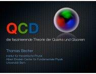 QCD, die faszinierende Theorie der Quarks und ... - Universität Bern