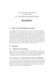 Versuchsanleitung Halleffekt (pdf, 1.8 MB) - Universität Bern