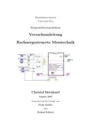 Versuchsanleitung Rechnergesteuerte Messtechnik - Universität Bern