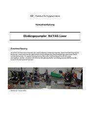Diodengepumpter Nd:YAG Laser