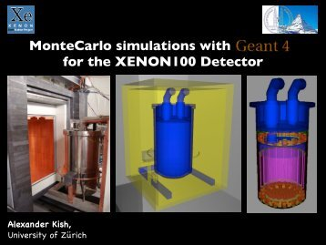 MonteCarlo simulations with GEANT4 for the XENON100 Detector