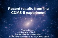 Recent results from the CDMS-II experiment