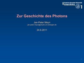 Zur Geschichte des Photons - Abteilung für Didaktik der Physik
