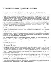 Chemische Reaktionen physikalisch beschrieben - Abteilung für ...