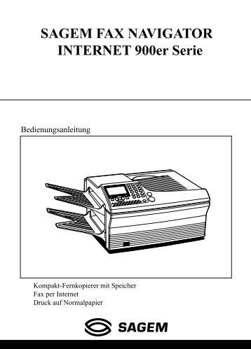 SAGEM FAX NAVIGATOR INTERNET 900er Serie - Fax-Anleitung.de