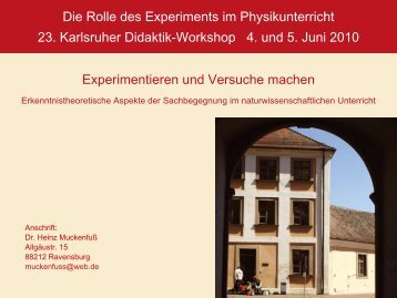 Folie - Abteilung für Didaktik der Physik