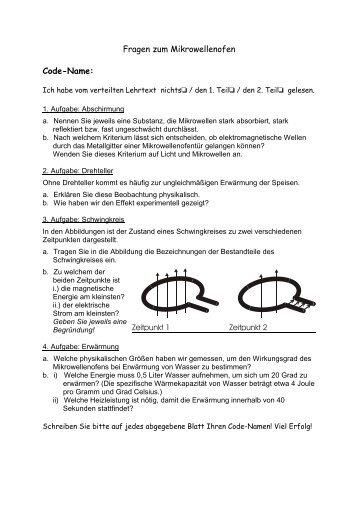 Abschlusstest - Didaktik der Physik