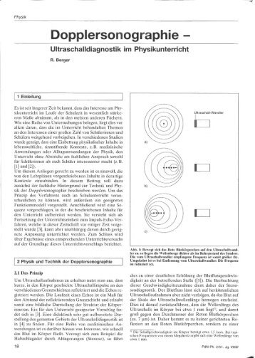 Berger, R. (2002). Dopplersonographie - Didaktik der Physik