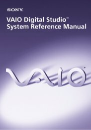 VAIO Digital Studio System Reference Manual - Sony