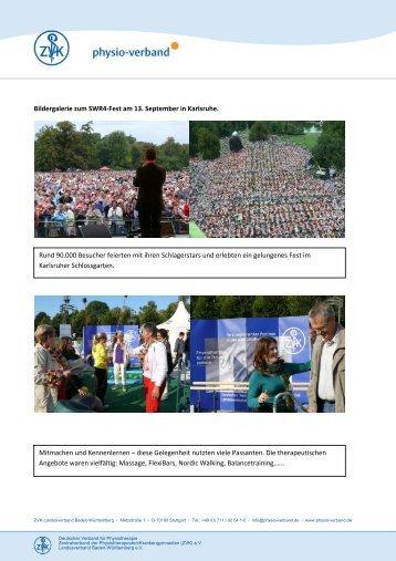 Das SWR4-Fest in Bildern. - Physio-Verband