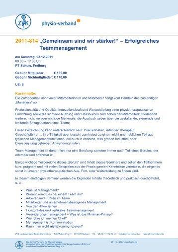 """2011-814 """"Gemeinsam sind wir stärker ... - Physio-Verband"""