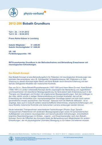 2012-200 Bobath Grundkurs - Physio-Verband
