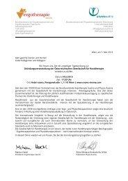 Gründungsveranstaltung der Österreichischen ... - Physio Austria