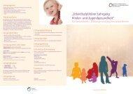 Folder zum Lehrgang Kinder- und Jugendgesundheit - Physio Austria