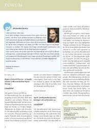 Forum - Zeitschrift für Physiotherapeuten
