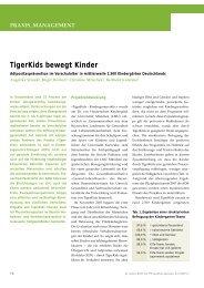 TigerKids bewegt Kinder - Zeitschrift für Physiotherapeuten
