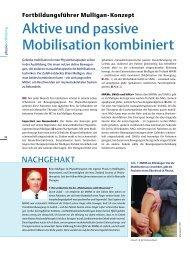 Fortbildungsführer Mulligan- Konzept - Physiotherapie Beyerlein