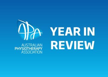 promoting the profession - Australian Physiotherapy Association