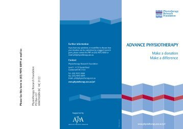 donation form - Australian Physiotherapy Association