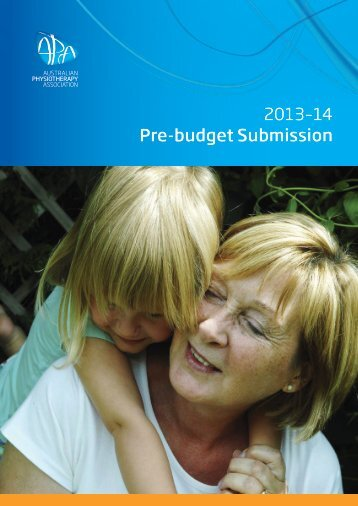 Federal Government Pre-Budget Submission 2013-14 - Australian ...