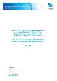 Feedback to the Inquiry into the increasing prevalence of obesity in ...
