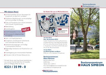 Seniorenzentrum HAUS SIMEON - Diakonie Michaelshoven