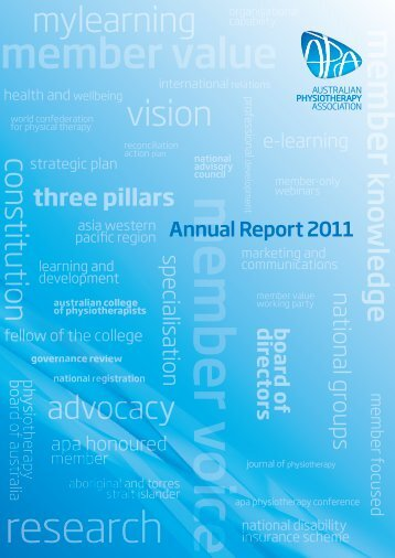 2011 Annual Report - Australian Physiotherapy Association
