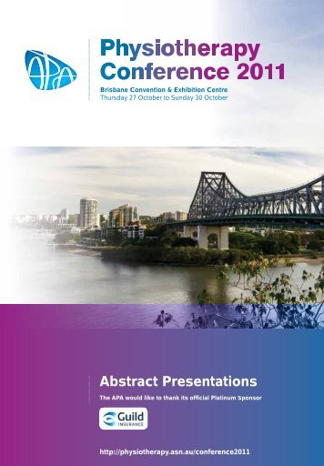 2011 APA Conference Week Abstracts - Australian Physiotherapy ...