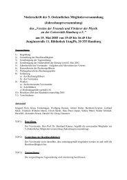 Niederschrift der 5. Ordentlichen Mitgliederversammlung