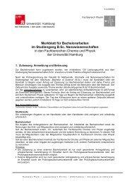 Merkblatt für Bachelorarbeiten - Fachbereich Physik - Universität ...