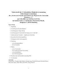 Niederschrift zur allgemeinen Mitgliederversammlung vom 12.06.2006