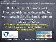KB3: Transporttheorie und Thermoelektrische Eigenschaften von ...