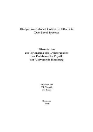 Dissipation-Induced Collective Effects in Two-Level Systems ...