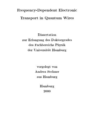 Frequency-Dependent Electronic Transport in Quantum Wires