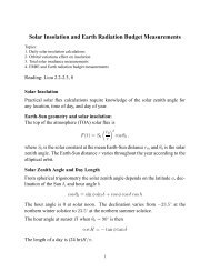 Solar Insolation and Earth Radiation Budget Measurements