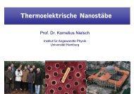 Thermoelektrische Nanostäbe - Universität Hamburg