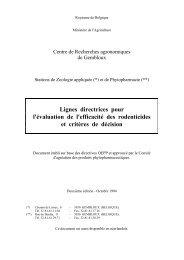 Lignes directrices pour l'évaluation de l'efficacité des ... - fyto