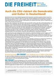 Auch die CDU riskiert die Demokratie und Kultur in Deutschland