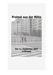 Protest aus der Mitte - der 11. September 2007 in Brüssel