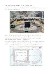 Die Kaaba – eine ehemals christliche Kirche ? Der Legende nach ...