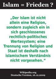 Islam = Frieden ?