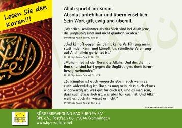 Lesen Sie den Koran!!!