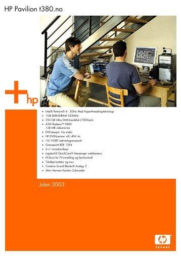 HP Pavilion t380.no - Hewlett Packard