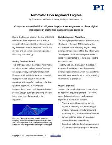 Automated Fiber Alignment - PI (Physik Instrumente)