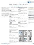 E500, E501 Modular Piezo Controller Rack, Piezo System; High ... - Page 2