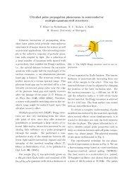 Ultrafast pulse propagation phenomena in semiconductor multiple ...