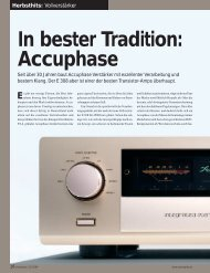 In bester Tradition: Accuphase - PIA - HiFi Vertriebs GmbH