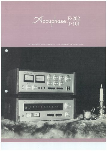 Page 1 Page 2 INTEGRATED «_QqñCCUPS The Accuphase E202 ...